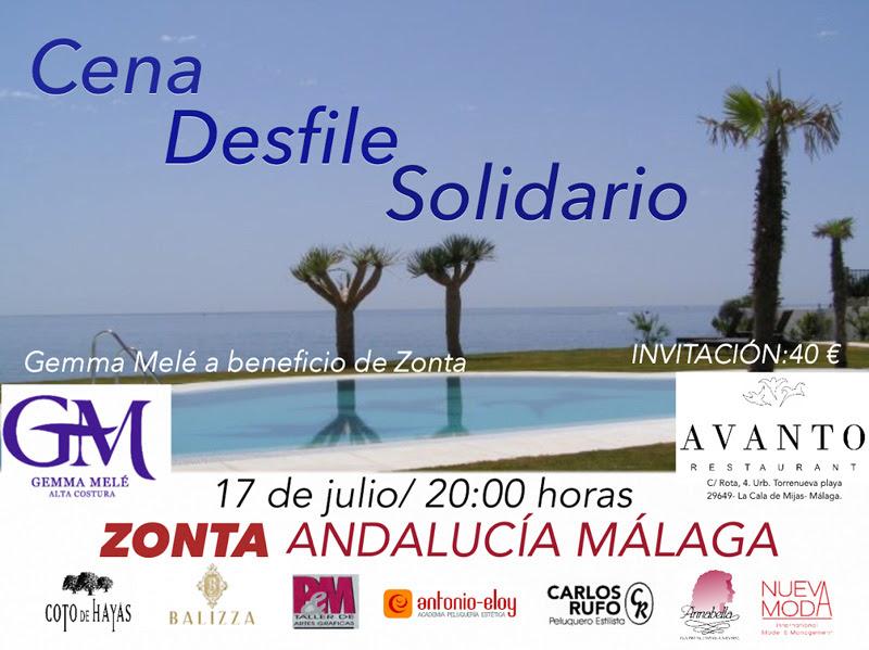 17 junio - Cena/Desfile de Gemma Melé en benéfico de Zonta