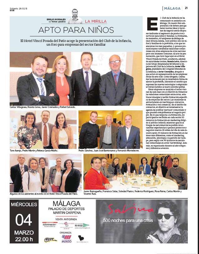 Carmen Ragel representó a ADEPMA en el Club de empresas Infancia y Empresas